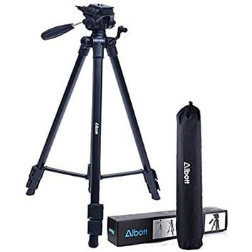 "Albott 64"" Travel Tripod Portable Aluminium Lightweight with Carrying Bag for DSLR Cameras Video"