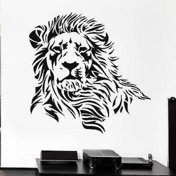 Lion Wall Stickers Beautiful Predator Animal Tribal Zoo Vinyl Decal Unique Gift (ig873)