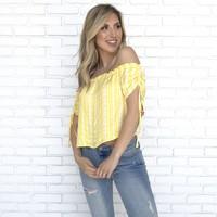 Lemondrop Off Shoulder Top