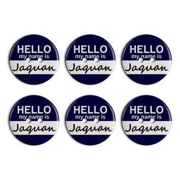 Jaquan Hello My Name Is Plastic Resin Button Set of 6