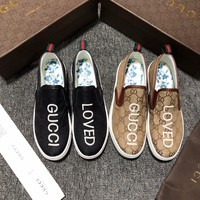 GUCCI Fashion Canvas Casual shoes