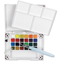 Koi XNCW-24N, 24 Assorted Watercolors Field Sketch Set with Brush - Walmart.com