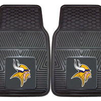 Minnesota Vikings Heavy Duty Vinyl Front Seat 2 Piece Car Mat Set