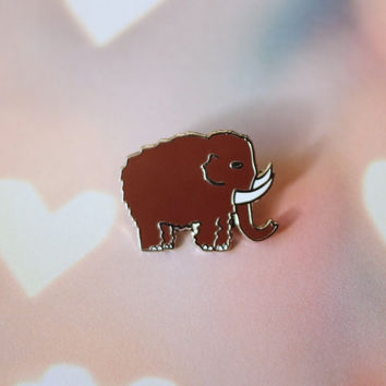 Woolly Mammoth Enamel Pin