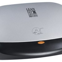 George Foreman GRP4P Next Grilleration 4-Burger Grill with Removable Plates, Platinum