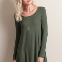 Face The Sun Dress In Green