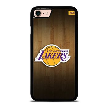LA LAKERS BASKETBALL WOODEN iPhone 8 Case