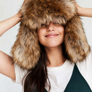 Oversized Faux Fur Trapper Hat - Urban Outfitters