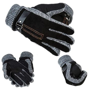 1 PAIR MENS LEATHER GLOVES THINSULATE SOFT FEEL FULLY LINED WINTER WARM OUTDOOR WALKING MITTENS