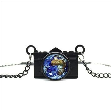 Globe Camera Necklace