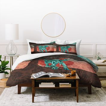 Belle13 Indian Summer With Raccoons Duvet Cover