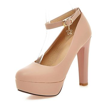 Tina Ankle Strap Extreme High Heels Sexy Bridal Shoes