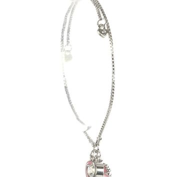Breda Breast Cancer Awareness Silver Adjustable Bracelet