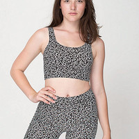 American Apparel - Winie Print Cotton Spandex Crop Tank