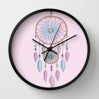 Dream Catcher Wall Clock by haleyivers | Society6