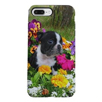 BOSTON TERRIER PUPPY IPHONE 7 PLUS TOUGH CASE