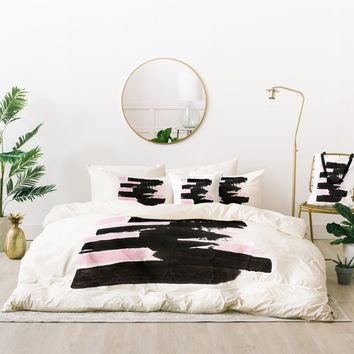 Viviana Gonzalez Minimal black and pink II Bed In A Bag | Deny Designs