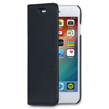 """iPhone 6 / 6s Leather Case Flip Cover Black - KANVASA """"Pro"""" Premium Genuine Leather Wallet Book Folio Case for the Original iPhone 6/6s (4.7 inch) - Ultra Thin with Magnetic Closure"""