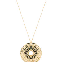 House of Harlow Heirloom Pendant Necklace in Gold & Black