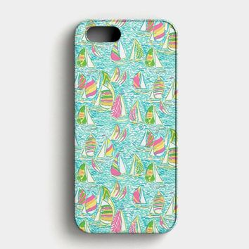 Lilly Pulitzer Sailboat iPhone SE Case