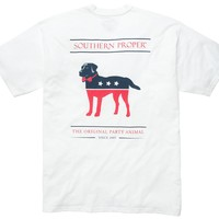 The Party Animal Tee - White | Southern Proper