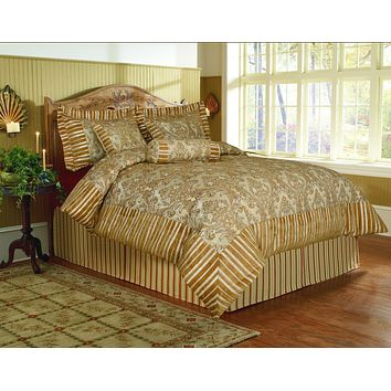 Tache 6 Piece Gold Fall's End Comforter Set (BM13836)