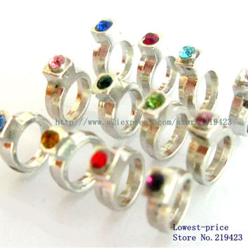 10pcs  Birthstone ring  DIY floating locket charms for   memory locket FC826