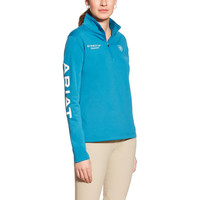 Ariat Ladies FEI World Cup Conquest 1/2 Zip - Blue