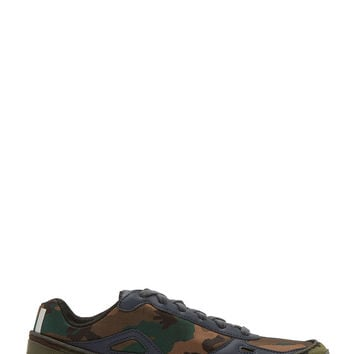 Raf Simons X Sterling Ruby Green And Black Adidas Edition Bounce Sneakers