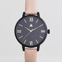 ASOS CURVE Black Tonal Face Rose Gold Watch at asos.com