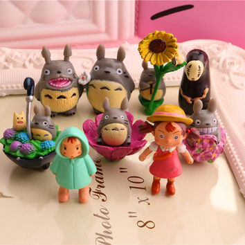 Miyazaki Hayao Japanese My Neighbor Totoro Mei Mini Figure Set Kids Toys House View Decorations Lote Totoro Figurines Figura Toy