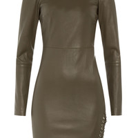 Emilio Pucci - Lace-Up Detailed Leather Dress
