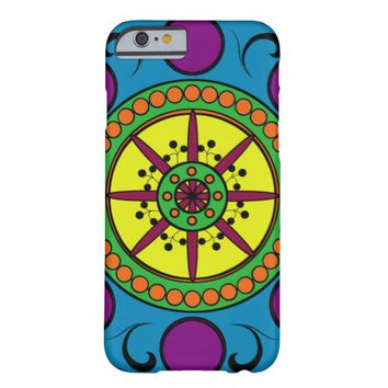Colourful Circular Abstract Pattern Barely There iPhone 6 Case