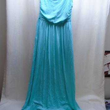Rags & Couture Women's Blue Sleeveless Full Length Maxi Dress Size Medium