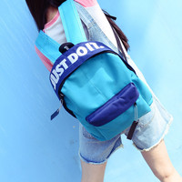 On Sale Hot Deal Casual Back To School College Stylish Comfort Korean Soft Classics Simple Design Vintage Couple Backpack [8384080519]