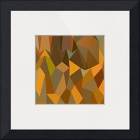 """""""Copper Brown Abstract Low Polygon Background"""" by Aloysius Patrimonio"""