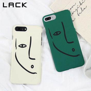 LACK Art Line Face Print Phone Case For iphone 8 Case Fashion Abstract Cartoon Lovers Cover For iphone 8 Plus Cases Hard PC Capa