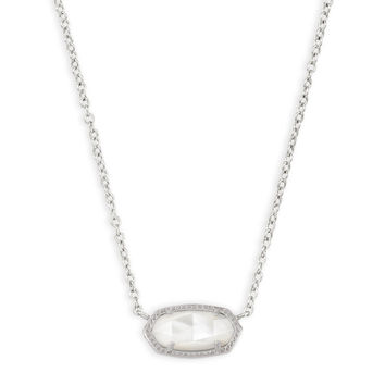 Elisa Silver Pendant Necklace in Ivory Pearl | Kendra Scott