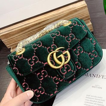 Free Shipping-GUCCI Marmont 2019 new women's chain bag shoulder bag