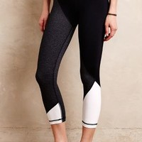 Vimmia Cropped Colorblock Leggings in Black & White Size: