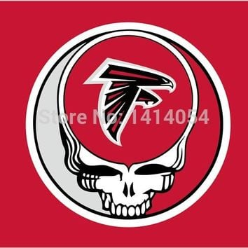 Atlanta Falcons Stealing Your Face Flag 150X90CM Banner 100D Polyester flag brass grommets 001, free shipping