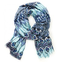 Sole Society Peacock Print Scarf
