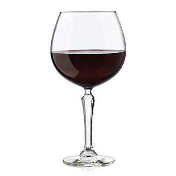 Libbey 4 Piece Capone Red Wine Glasses Set Clear
