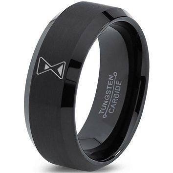 Hour Glass Time is Running Out Gamer Tungsten Ring