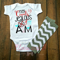 valentine shirt, valentine gift, cupids jealous of my aim, baby valentines day outfit, toddler valentine's day shirt, boy first valentine