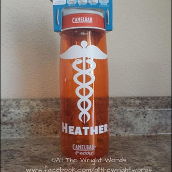 Personalized .75L Camelbak Bottle - Nurse