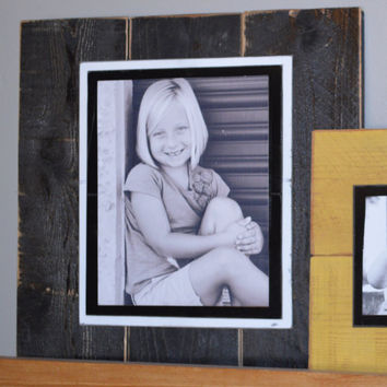 PIcture Frames shabby 8x10 ... Modge Podge Ready or Glassed Front