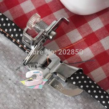 """Domestic Sewing Machine Hemmer Presser Foot,Size 3/8"""",Compatible With Sewing Machines of Singer,Janome,Juki,Brother,Feiyue..."""