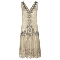 Buy Jigsaw Sequin Flapper Dress, Oyster online at John Lewis