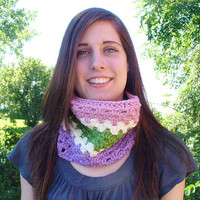 ON SALE - Striped Crocheted Cowl